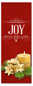 3x8 red Christmas banner for church - Joy