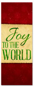 3x8 Red Joy to the World Christmas Banner