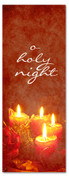 Red candles 3x8 Christmas church banner - O Holy Night