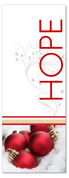 White and red 3x8 Xmas ornaments church banner - Hope