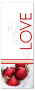 White and red 3x8 Xmas ornaments banner - Love