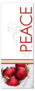 White and red 3x8 Xmas ornaments banner - Peace