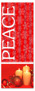 Red and white 3x8 Xmas banner - Peace