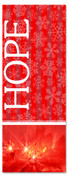 3x8 Red and white Christmas church banner - Hope