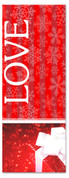 3x8 Red and white Xmas banner for church - Love