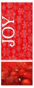 Red and white  3x8 Xmas church banner - joy