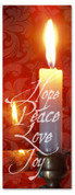 Christmas candle church banner - 3x8
