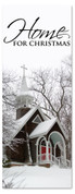 Black and white 3x8 home for Christmas banner