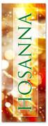 Bright gold 3x8 Xmas banner - hosanna