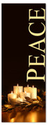 Black & gold 3x8 Xmas banner for church - peace