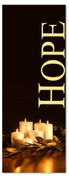 Black & gold 3x8 Xmas banner - hope
