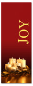 Joy - Red and Gold 3x8 Christmas banner