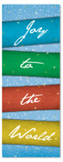 3x8 Colorful Xmas banner for churches - Joy to the World