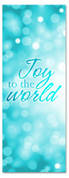 3x8 Light Blue Xmas banner for churches - Joy to the World