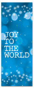 3x8 Blue Xmas banner for church - Joy to the World