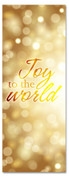 3x8 Gold Xmas church banner - Joy to the World
