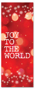 3x8 red Xmas church banner - Joy to the world