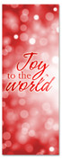 3x8 Joy to the World red Xmas church banner