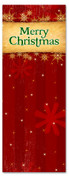 Merry Christmas banner in red with snowflakes - 3x8