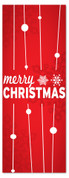 3x8 Red Merry Christmas banner for holiday season