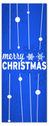 3x8 Blue Merry Christmas banner for churches