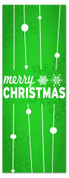 3x8 Green Merry Christmas church banner