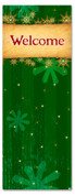 3x8 Green Welcome banner for Christmas season