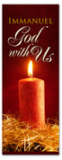 3x8 God with us Christmas church banner