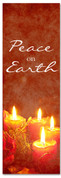 2x6 Red Fabric or Vinyl Christmas banner - Peace on Earth