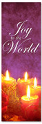 2x6 Purple Fabric or Vinyl Christmas holiday banner - Joy to the World