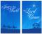 3x5 Blue nativity scene - Christian Christmas banner set of 2