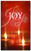 Red flickering candles - Joy Christian banner 4x6