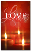 Red flickering candles - Love Christmas banner 4x6