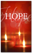 4x6 Hope Christmas banner - Red glimmering candles