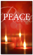 Red glimmering candles - 4x6 Peace Christmas banner