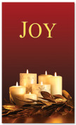 Red and gold dim candles - 4x6 Joy Christmas banner