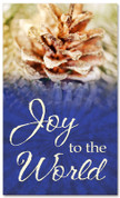 4x6 frosted pinecone Christmas banner - Joy to the World