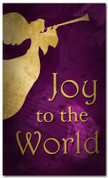 4x6 Trumpeting angel Christmas banner - Joy to the World