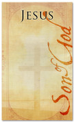 4x6 Jesus Son of God - Christmas banner with cross