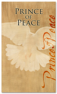 4x6 descending dove - Prince of Peace Christmas banner