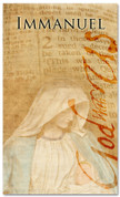 4x6 Immanuel God With Us - Christmas banner