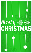 4x6 Green & White Merry Christmas banner