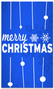 4x6 Blue and White Merry Christmas banner