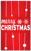 4x6 Red and White Merry Christmas banner
