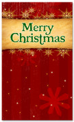 4x6 Red Merry Christmas banner for church