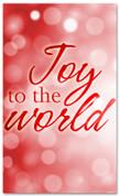 Red Bokeh banner for Christmas season - Joy to the world