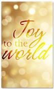 Gold Bokeh Christmas banner - Joy to the world