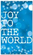 Blue snowflake Bokeh Christmas banner - Joy to the world