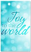 Light blue Bokeh Christmas banner - Joy to the world