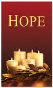 Red and gold Christmas candles - 4x6 Hope church banner